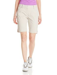 Callaway Womens Golf Performance 19 Woven Shorts Silver Lining Size 2 * Details can be found by clicking on the image.