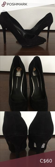 Worn once. Heels are 4 inches. Perfect for any event or just work. Black Heels, Black Suede, Suede Heels, Shoes Heels, Dolce Vita Shoes, Plus Fashion, Fashion Tips, Fashion Trends, Platform