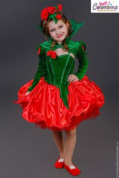 Купить или заказать Костюм розы в интернет-магазине на Ярмарке Мастеров. Карнавальный костюм розы для девочки комплектация: платье, болеро, шляпка размеры 134-146+400…