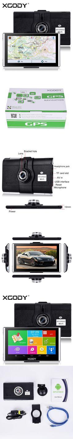 Xgody 7 inch Android Navigator Car Gps Navigation Dvrs 512M+ 8GB With Wifi HD 1080p Dash Camera Video Recorder Fm AVIN Dashcam