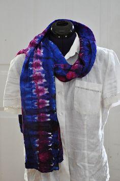Silk Shibori Scarf - Hand Dyed Silk Scarf - Purple, Fuchsia - Silk Habotai - Gift for Her by WhatJennyMakes on Etsy Dyed Silk, Shibori, Gifts For Her, My Etsy Shop, Purple, How To Make, Shopping, Fashion, Moda