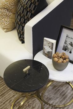 Nesting side tables recently used by Rachel Winham Interior Design for a project in Fuham, London. www.rachelwinham.com