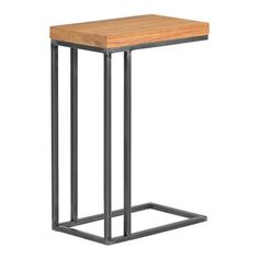 Mesa auxiliar de metal y madera Calia