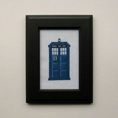 inspiration for british telephone booth (Doctor Who Tardis Cross Stitch by WistfulBird on Etsy)