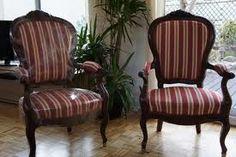 """Résultat de recherche d'images pour """"fauteuil toile de mayenne a rayure"""""""