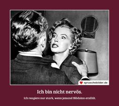 nervös. Ich bin nitcht nervös. Ich reagiere nur stark, wenn jemand Blödsinn erzählt.    Help learning and memorize German vocabulary with images or  Bildwörter. Create or add your own word pin and tag it with #germanmems so we can add it to the Mems board. Aprender vocabulario alemán. Alemão.