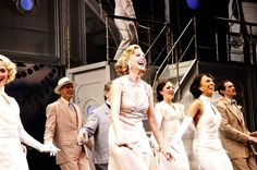 Sutton Foster and cast Opening night of the Broadway musical production of 'Anything Goes' at the Stephen Sondheim Theatre - Curtain Call New York City, USA
