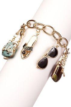 Meghan LA  Tokyo Charm Bracelet  X  $25.00  .