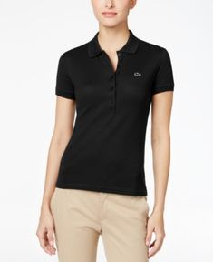 Lacoste Sport Men 3 Button Polo Shirt White Black Red XS S Casual Light Weight