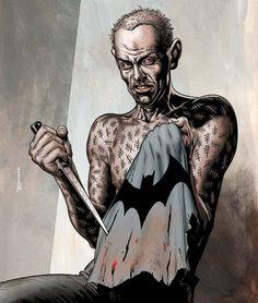 Victor Zsasz by Brian Bolland Comic Villains, Comic Book Characters, Comic Character, Character Reference, Comic Books, Arkham City, Arkham Asylum, Deadshot, Deathstroke