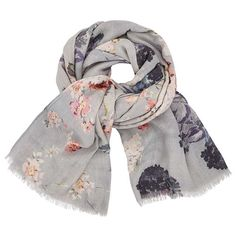 7a576bcdfc62 Modern Rarity Trade Wings Bloom Wool and Silk Floral Scarf at John Lewis    Partners