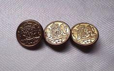 Vintage Blazer Buttons set of 3  je by VickiesVintageroom on Etsy