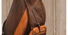 Stylish waxed canvas-leather backpack for men and women
