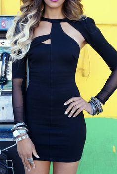 ALLTHINGSSLIM in the Hacker Dress  Black Dress #2dayslook #sunayildirim #BlackDress www.2dayslook.com