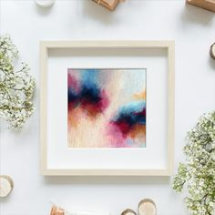 """This is an original acrylic abstract painting by Anna Rudenko on canvas board 20x20cm (approx. 7.9""""x7.9""""). It is sold unframed. Bedroom Decor For Small Rooms, Bedroom Art, Group Boards, Modern Artwork, Decor Ideas, Gift Ideas, Canvas Board, Handmade Home Decor, Art For Sale"""