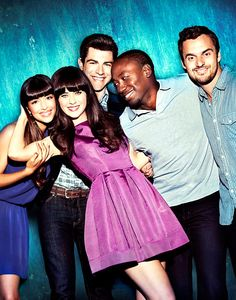 I love this picture of them. New Girl. Love this show so much.