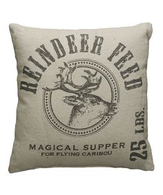 Reindeer Feed Pillow - The Holiday Barn