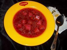 Ciorba ruseasca cu sfecla rosie - imagine 1 mare Romanian Food, Grapefruit, Recipies, Fine Dining, Recipes