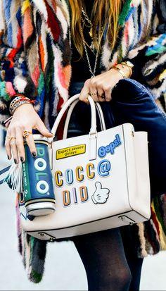 Absolutely love the bag!  Milan Fall Fashion Week 2015#justjune