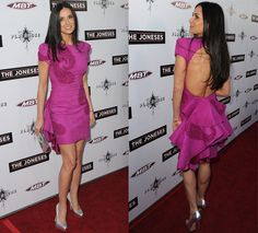 Demi Moore in a pink Marchesa dress... just gorgeous!