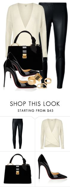 """Untitled #11727"" by vany-alvarado ❤ liked on Polyvore featuring MICHAEL Michael Kors, River Island, Miu Miu, Christian Louboutin and Pieces"