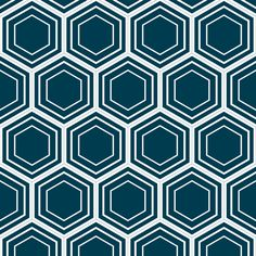 honeycomb (navy) fabric by amybethunephotography on Spoonflower - custom fabric