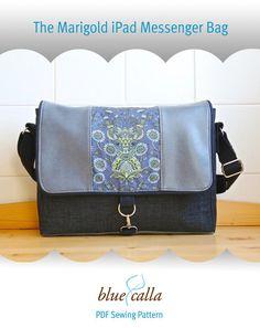 The Marigold iPad Messenger Bag - PDF Sewing Pattern