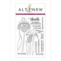 Altenew Clear Photopolymer Stamp Set Enchanted Iris | Blitsy