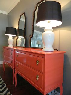 OK- here's hoping the inspiration comes along on my next IKEA trip. Awesome And Absolutely Affordable IKEA Hacks Ikea Furniture, Furniture Makeover, Orange Furniture, Bedroom Furniture, Wardrobe Furniture, Bedroom Decor, Furniture Update, Gray Bedroom, Paint Furniture