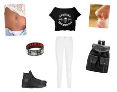 """Hanging Out With Avenged Sevenfold"" by demonlover2002 ❤ liked on Polyvore featuring J Brand, Converse and Hello Kitty"