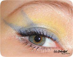 Sailor Uranus inspired make up by http://eniiriis.blogspot.de/2013/02/40-amu-yellow-blue.html