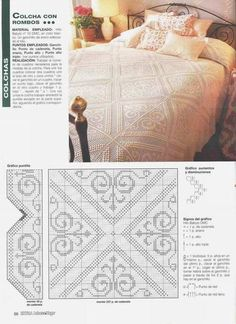 Colcha e Travesseiros em Renda -  /   Bedspread and Pillows in Lace -