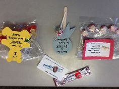Morning motivators for the 4 days of ISTEP. I put these treats on my students' desks each morning before they get to class so they have a treat and know that I am pulling for them!