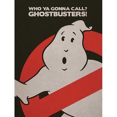 'Ghostbusters - Logo' Vintage Advertisement Art Group Size: 40cm H x 30cm W, Format: Linen, Mount Colour: No Mount