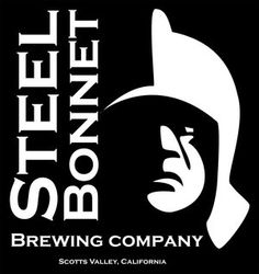 """Steel Bonnet Brewing Company - """"California Brewed, Scottish Attitude"""" - Steel Bonnet Brewing Company is a small, family owned and operated brewery coming soon to Scotts Valley CA... (pin: Square Sticker)  Nice to see this nod to the Steel Bonnets a/k/a the Border Reivers!  The company has t-shirts with their Steel Bonnet logo for sale on their site."""