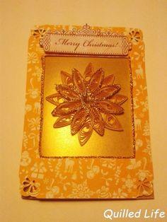 Quilled Life: Złote Święta #quilling #poinsettia #handcraft #handmade #Christmas #Christmascard