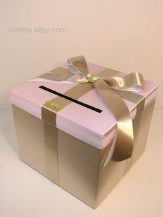Wedding Card Box Gift Card Box Money Box Holder--Customize your color/made to order (10x10x9)