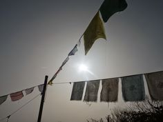 Solar Eclipse 2015 and Prayer Flags