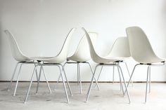 x6 | Fiberglass Shell Chairs in H Base | http://modernica.net/h-base-side-shell.html