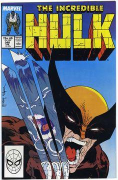 Incredible Hulk #340 Mcfarlane Hulk VS. Wolverine.
