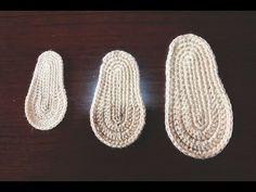 Suelas para zapatitos de bebé en distintas tallas a crochet. - YouTube