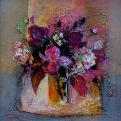 Roses and Hydrangeas by Patricia Sadler