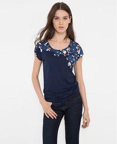 T-shirt imprimé VERDURE - Couleur MIDNIGHT BLUE