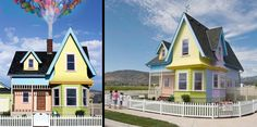 "My grandkids would be so happy in this exact replica of the house from Pixar's movie ""Up"" built in Herriman Utah by Bangerter Homes."