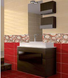 κόκκινα πλακάκια μπάνιου 25χ50 varna, 15 Ε/ΜΕ ΜΕ ΦΠΑ