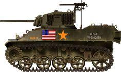 M4 Sherman Tank Art 2d Drawing Horizontal M4a6
