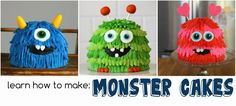 how to make monster cakes