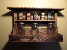 DIY Pallet #Kitchen Spice Rack | Pallet Furniture DIY