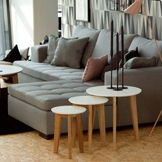 Set 3 mese de cafea Abin, Ø50xh50 cm #homedecor #inspiration #interiordesing #livingroom #livingroomdecor #coffeetable #coffee Interior Desing, Decoration, Console, Throw Pillows, Minimalism, Living Room, Wood, Inspiration, Furniture