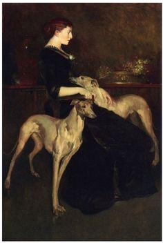 2 greyhounds